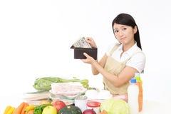 Moeilijke Aziatische huisvrouw stock fotografie