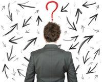 Moeilijke keuzen van een zakenman stock afbeelding