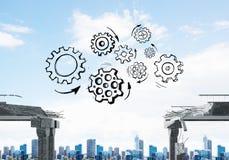 Moeilijkheden in bedrijfs en groepswerkconcept Stock Fotografie