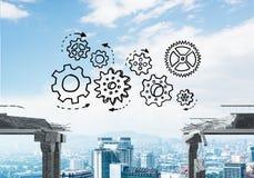 Moeilijkheden in bedrijfs en groepswerkconcept Stock Foto