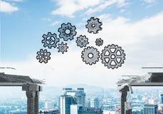 Moeilijkheden in bedrijfs en groepswerkconcept Royalty-vrije Stock Afbeeldingen