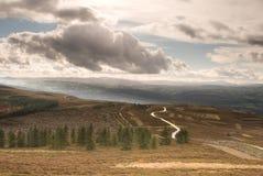 Moel Famau nell'intervallo di Clwydian delle colline Fotografie Stock Libere da Diritti