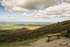 Moel famau taking in the view. Moel Famau is the highest hill within the Clwydian Range, formerly Flintshire Range, on the boundary between Denbighshire and Royalty Free Stock Image