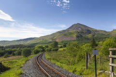 Free Moel Hebog And The Welsh Highland Railway Stock Photography - 95919122