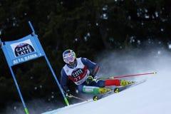 MOELGG Manfred nel gigante di Men's della tazza di Audi Fis Alpine Skiing World Fotografia Stock Libera da Diritti