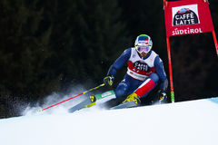 MOELGG Manfred nel gigante di Men's della tazza di Audi Fis Alpine Skiing World Fotografia Stock