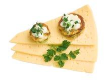 Moelle /courgette, fromage et persil rôtis savoureux Photo libre de droits