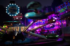 Free MOELN, GERMANY, NOVEMBER 1, 2018: Funfair Ride Carousels At The Stock Images - 130757494