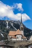 MOENA, TRENTINO/ITALY - MARCH 26 : Church of San Vigilio in Moen Royalty Free Stock Image