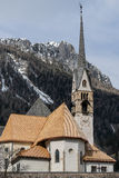 MOENA, TRENTINO/ITALY - MARCH 26 : Church of San Vigilio in Moen Stock Photo