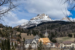 MOENA, TRENTINO/ITALY - MARCH 26 : Church of San Vigilio in Moen Stock Photos