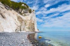 Moens klint chalk cliffs. In Denmark Royalty Free Stock Photos