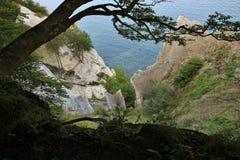 Moens Klint, unique limestone cliff in Zealand, Denmark. Stock Photography