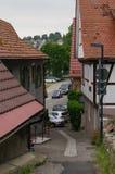 MOENSHEIM,普福尔茨海姆,德国- 2015年6月10日:蒙斯海姆是一个镇在Enz区在亚丁乌特姆博格在南部的BRD 免版税库存照片