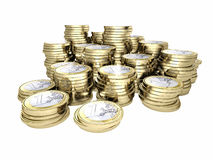 Moeny 3d euro coin Royalty Free Stock Photos