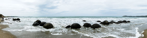 moeraki Новая Зеландия валунов Стоковое Фото