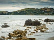 Moeraki Boulder East Coast of south New Zealand Royalty Free Stock Image