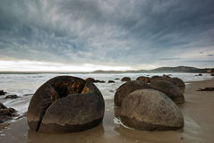 Moeraki Boulders Stock Photo