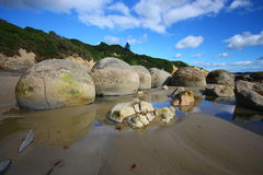 Moeraki Boulders Royalty Free Stock Photography