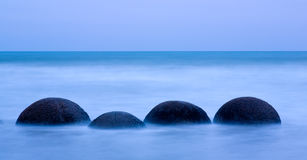 Moeraki Boulders Royalty Free Stock Images
