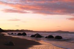 Moeraki boulders and beach Stock Images
