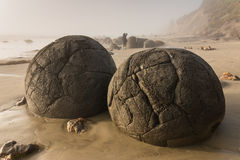 Moeraki boulders Royalty Free Stock Photo