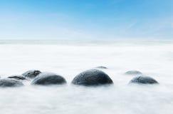 Moeraki boulders Royalty Free Stock Photo