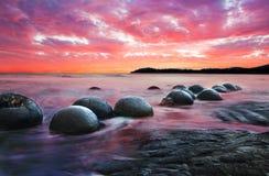 Moeraki boulders Stock Photography
