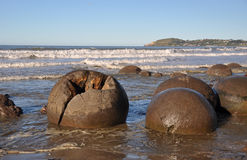 Moeraki Boulders, Moeraki, New Zealand Stock Photo