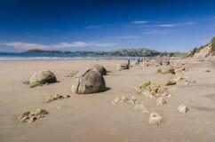 Moeraki boulders, natural wonder in New Zealand Stock Images