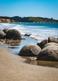 Moeraki Boulders, New Zealand Royalty Free Stock Photography