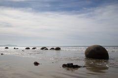 Moeraki Boulders in New Zealand Royalty Free Stock Images