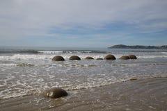 Moeraki Boulders in New Zealand Royalty Free Stock Photo