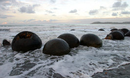 Moeraki Boulders, NZ Stock Photos
