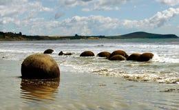 The Moeraki Boulders NZ Stock Images