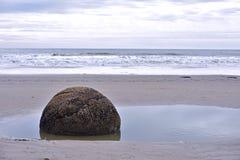 Moeraki boulders, NZ Royalty Free Stock Photo