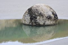 Moeraki boulders, NZ Royalty Free Stock Photography