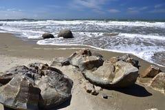 Moeraki boulders, NZ Royalty Free Stock Image