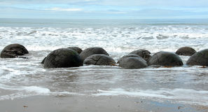 Moeraki boulders, Otago, New Zealand Royalty Free Stock Image