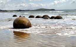Moeraki Boulders. Otago. NZ. Stock Photography