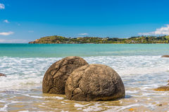 Moeraki Boulders in Otago, South Island of New Zealand Stock Photography