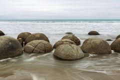 Moeraki Boulders, South Island New Zealand Royalty Free Stock Photography