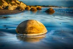 Moeraki boulders Royalty Free Stock Photos