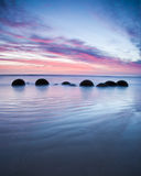 Moeraki Boulders Sunrise royalty free stock photo