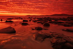Moeraki Boulders At Sunrise Royalty Free Stock Image