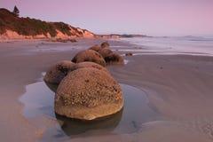 Moeraki Boulders at  sunrise Stock Photography