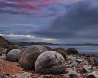 Moeraki Boulders, New Zealand royalty free stock photos