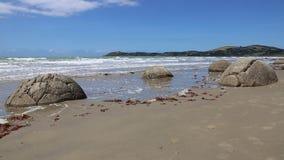 Moeraki głazy na plaży zbiory