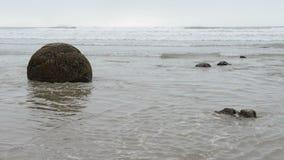 Moeraki głazy w ocean spokojny falach zbiory wideo