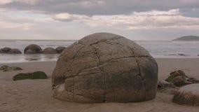 Moeraki głazy w Południowej wyspie Nowa Zelandia zbiory